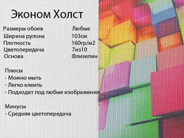 «Эконом Холст» АКЦИЯ 330р/м2 вместо 550р !