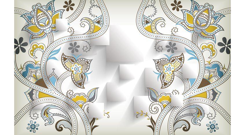 Фотообои 3D Узор из цветов