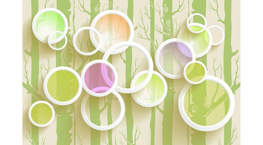 Фотообои 3D Яркие кольца