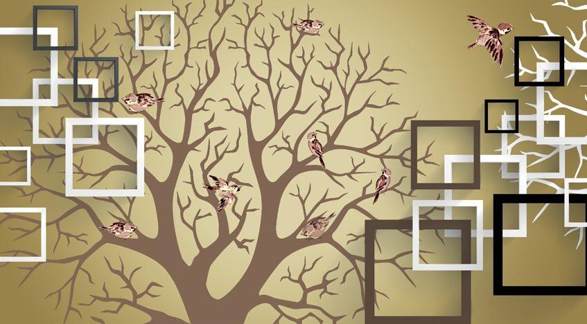 Фотообои 3D Дерево желаний