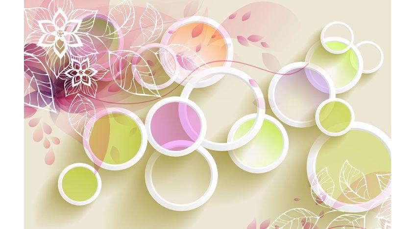 Фотообои 3D Цветные кольца