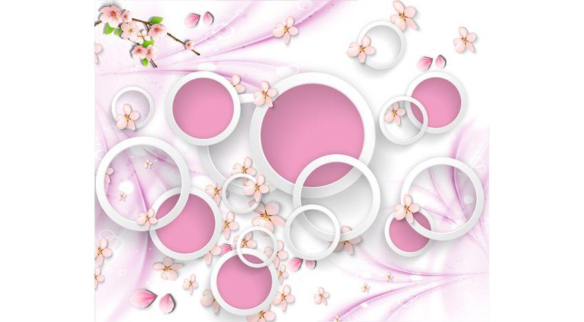 Фотообои 3D Розовый нежный фон
