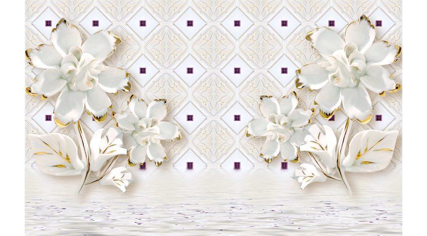 Фотообои 3D Фарфоровые цветы