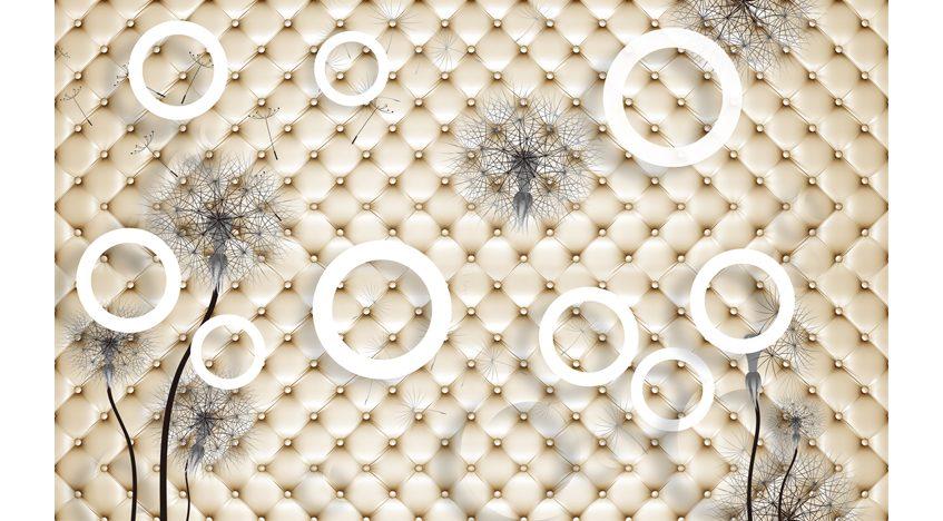 Фотообои 3D Круги на фоне обивки