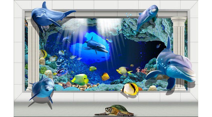Фотообои 3D Подводный мир