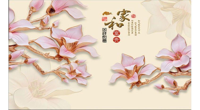 Фотообои 3D Керамические цветы