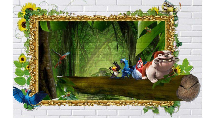 Фотообои 3D Герои мультфильма Рио