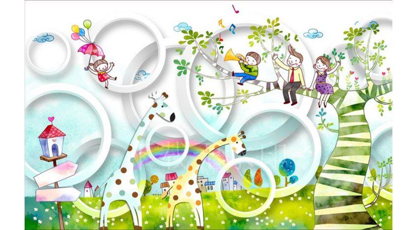 Фотообои 3D Детская иллюстрация