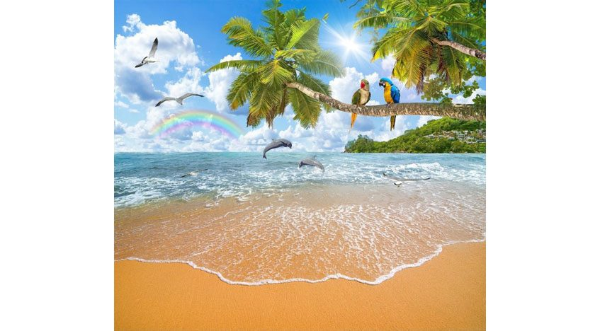 Фотообои 3D Тропический берег