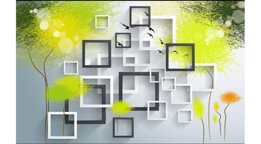 Фотообои 3D Квадраты на стену