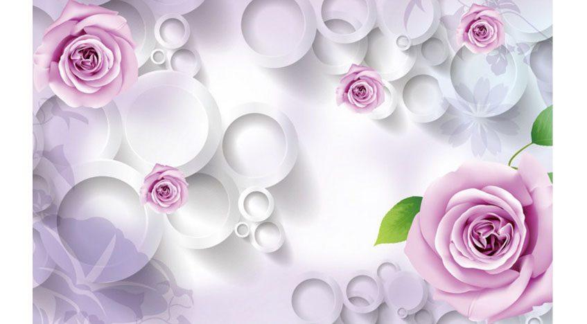 Фотообои 3D Фиолетовые розы