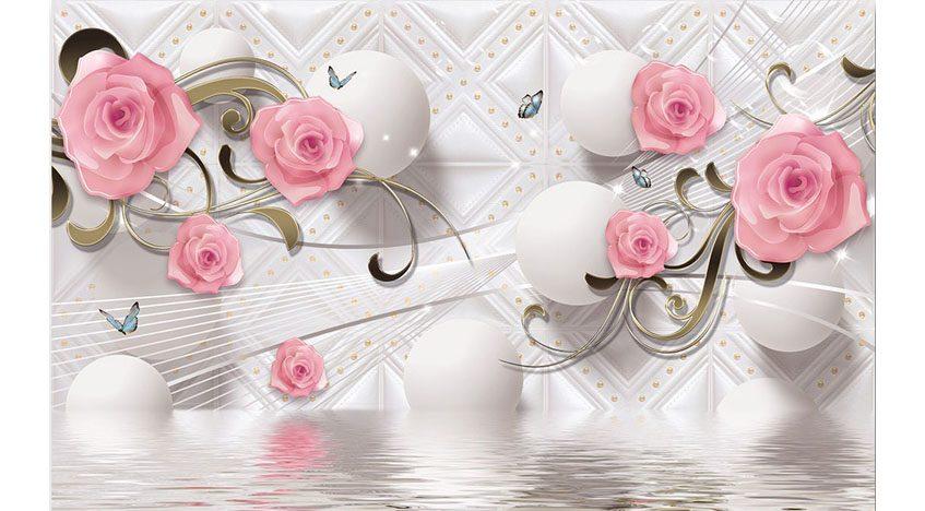 Фотообои 3D Ветки розы