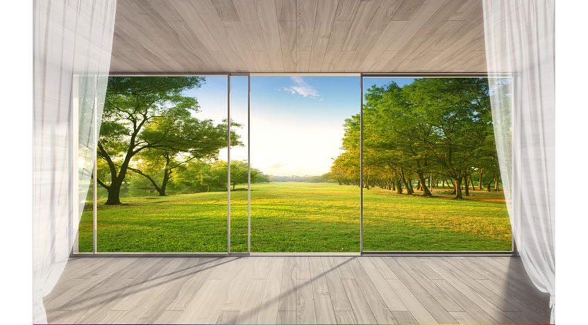 Фотообои 3D Вид с балкона