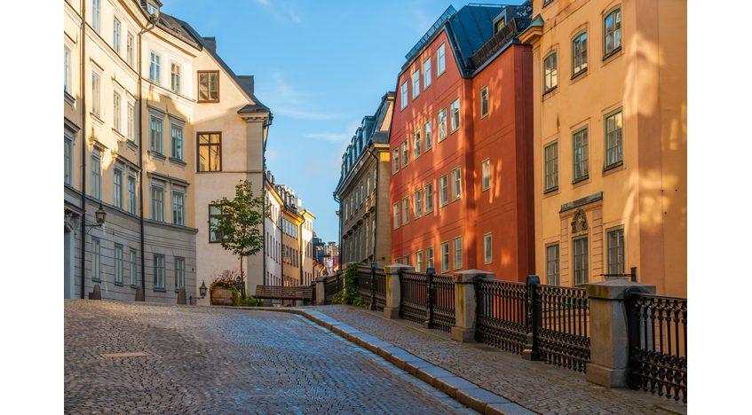 Фотообои Улица старого города Стокгольм