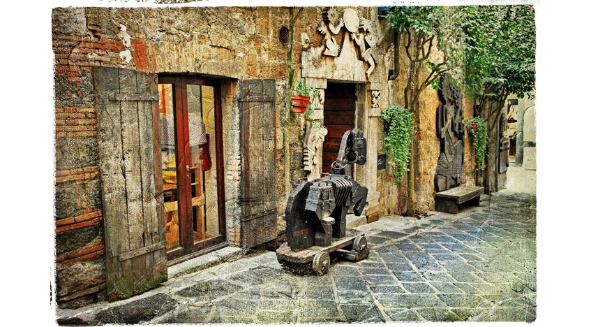 Фотообои Старая улица в средневековом городе Орвието в Италии