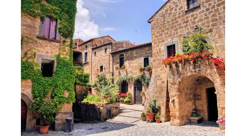 Фотообои Уютный двор в Тоскане