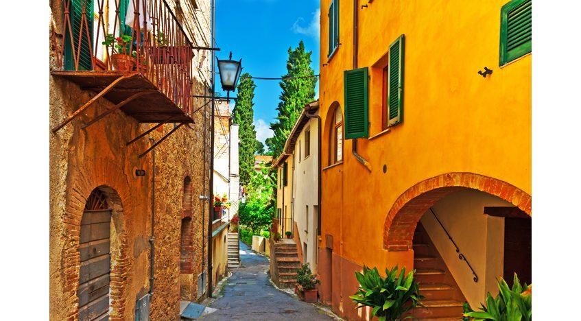 Фотообои Желтый дом. Италия