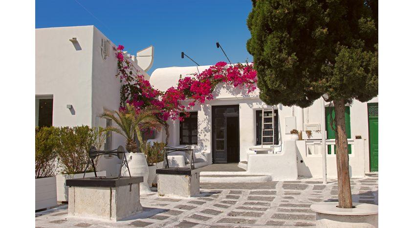 Фотообои Традиционный греческий дворик