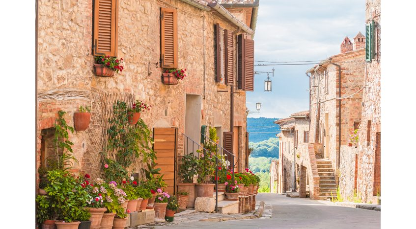 Фотообои Улица в Тоскане Италия