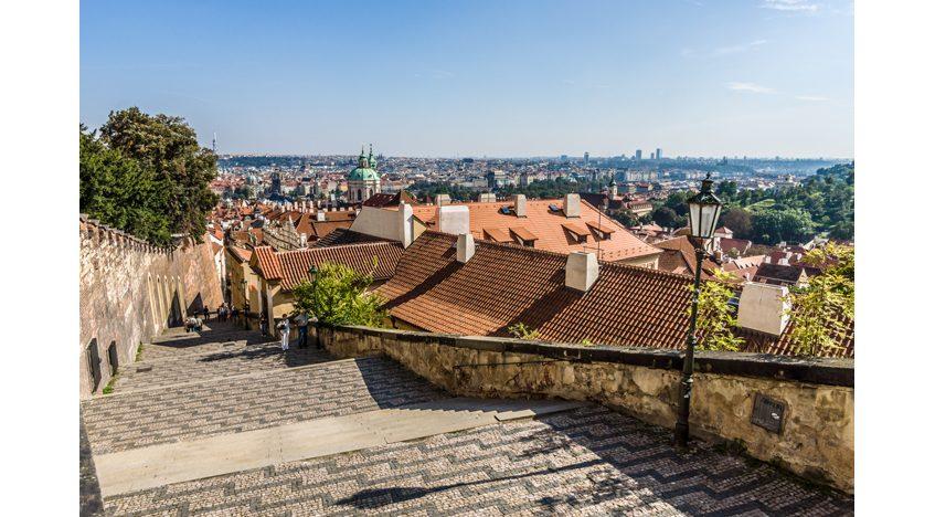 Фотообои Прага, вид на старый город
