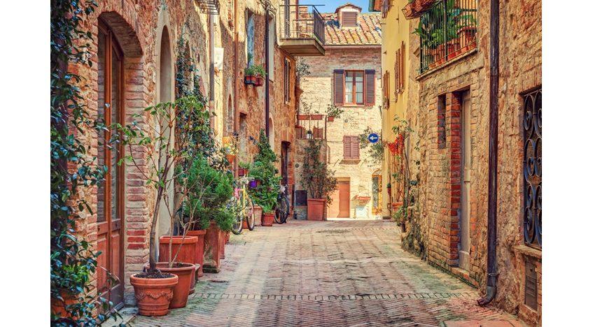 Фотообои Улочка в старом городе, Тоскана, Италия