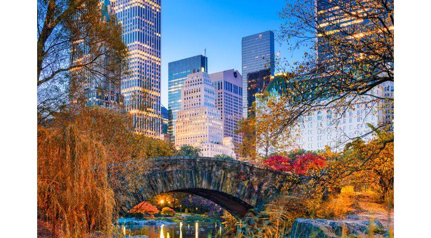 Фотообои Осень в Нью-Йорке